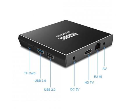 Медиаплеер стационарный MECOOL KM3 4/128Gb Android TV 9.0 2