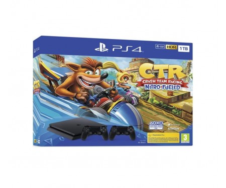 Игровая приставка Sony Playstation 4 Slim 1TB + Crash Team Racing Nitro-Fueled + DualShock 4