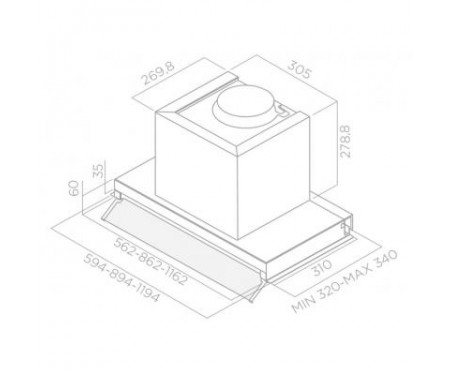 Вытяжка кухонная ELICA BOX IN PLUS IXGL/A/120