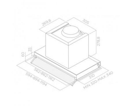 Вытяжка кухонная ELICA BOX IN PLUS IXGL/A/90
