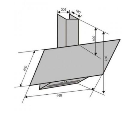 Вытяжка кухонная VENTOLUX MIRROR 60 BK (800) TRC STR