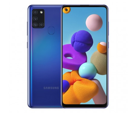 Смартфон Samsung Galaxy A21s 4/64GB Blue (SM-A217FZBOSEK)