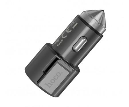 Автомобильное зарядное устройство Hoco Z33 Sword 2USB (metal gray)