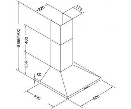 Вытяжка кухонная PYRAMIDA KSX 60 IX (KSX60IX)