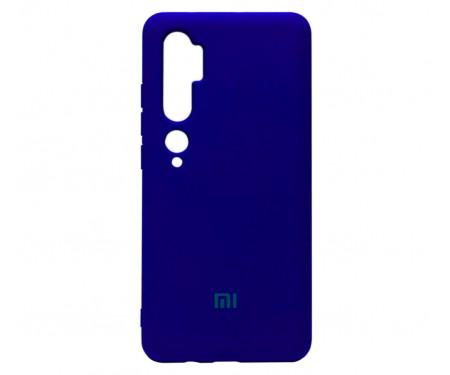 Чехол для Xiaomi Mi CC9 Pro Silicone Case Blue