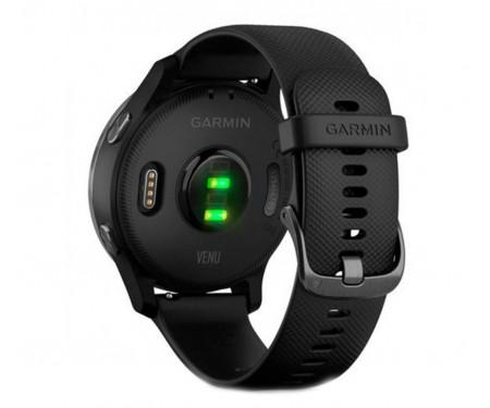 Спортивные часы Garmin Venu Slate Stainless Steel Bezel w. Black and Silicone B. (010-02173-11)