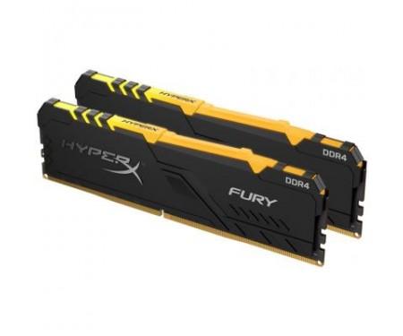 Модуль памяти для компьютера DDR4 32GB (2x16GB) 3466 MHz HyperX FURY RGB Kingston (HX434C16FB3AK2/32)