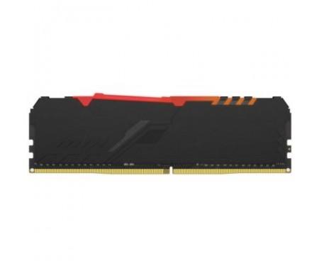 Модуль памяти для компьютера DDR4 8GB 2666 MHz HyperX Fury Black RGB Kingston (HX426C16FB3A/8)