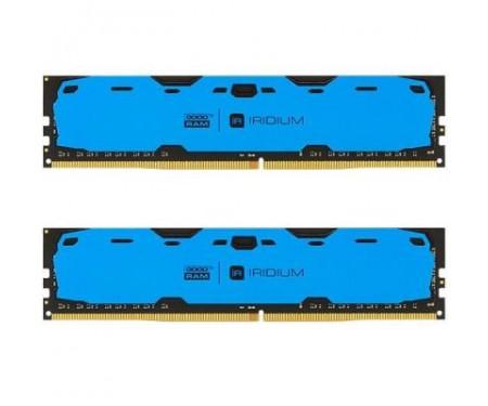 Модуль памяти для компьютера DDR4 8GB (2x4GB) 2400 MHz Iridium Blue GOODRAM (IR-B2400D464L15S/8GDC)