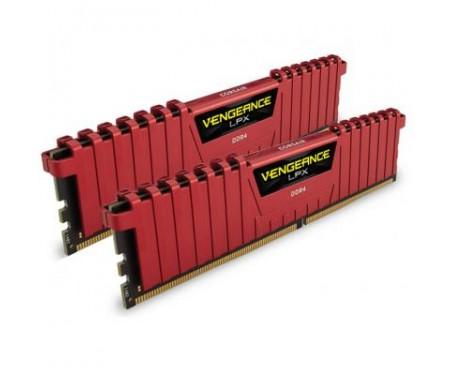 Модуль памяти для компьютера DDR4 8GB (2x4GB) 2400 MHz LPX Red CORSAIR (CMK8GX4M2A2400C16R)