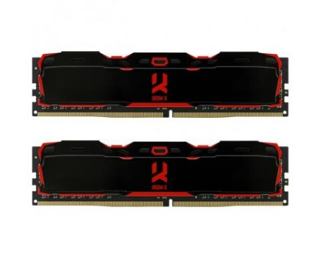 Модуль памяти для компьютера DDR4 8GB (2x4GB) 3000 MHz IRDM Black GOODRAM (IR-X3000D464L16S/8GDC)