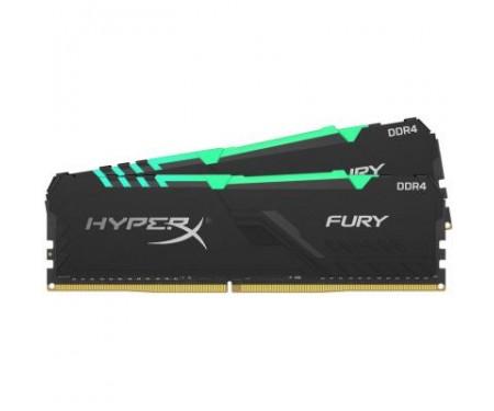 Модуль памяти для компьютера DDR4 16GB (2x8GB) 2400 MHz HyperX Fury RGB Kingston (HX424C15FB3AK2/16)