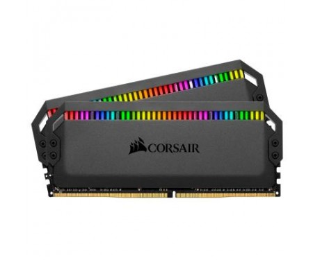 Модуль памяти для компьютера DDR4 16GB (2x8GB) 3200 MHz Dominator Platinum CORSAIR (CMT16GX4M2C3200C16)