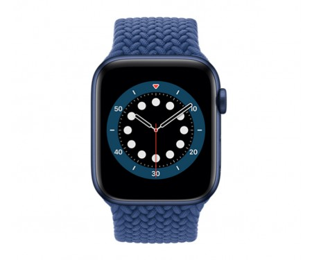 Apple Watch Series 6 GPS 44mm Blue Aluminium Case with Atlantic Blue Braided Solo Loop (M02G3)