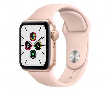 Apple Watch SE GPS + Cellular 44mm Gold Aluminum Case with Pink Sand Sport B. (MYEP2)