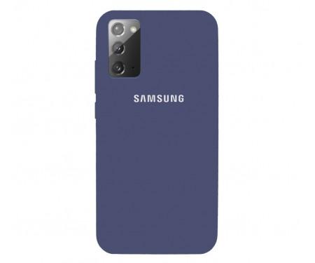 Чехол для Samsung Galaxy Note20 Silicone Case Midnight Blue