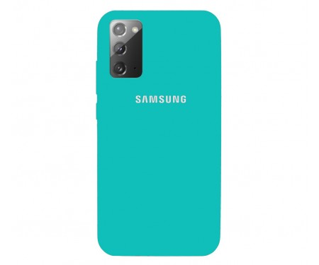 Чехол для Samsung Galaxy Note20 Ultra Silicone Case Green