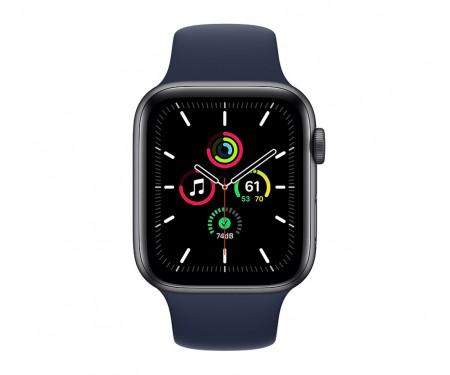 Apple Watch SE GPS 44mm Space Gray Aluminum Case w. Deep Navy Sport B. (MYE32)