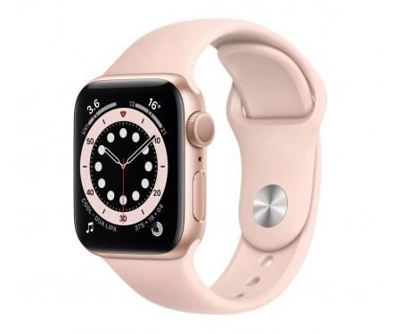 Apple Watch Series 6 GPS + Cellular 44mm Gold Aluminum Case w. Pink Sand Sport Band (M07G3\MG2D3)
