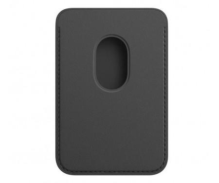 Чехол для пластиковых карт Apple iPhone Leather Wallet with MagSafe - Black (MHLR3)