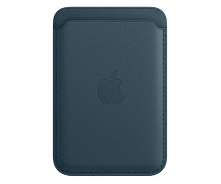 Чехол для пластиковых карт Apple iPhone Leather Wallet with MagSafe - Baltic Blue (MHLQ3)
