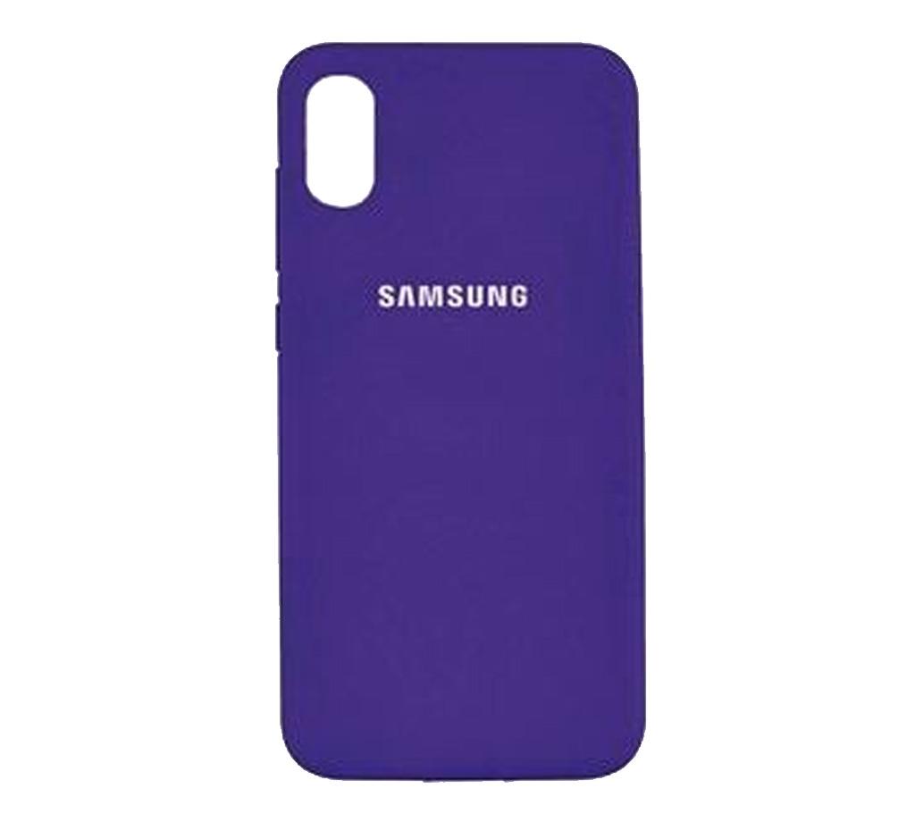 Чехол для Samsung Galaxy A01 Core Silicone Case Purple