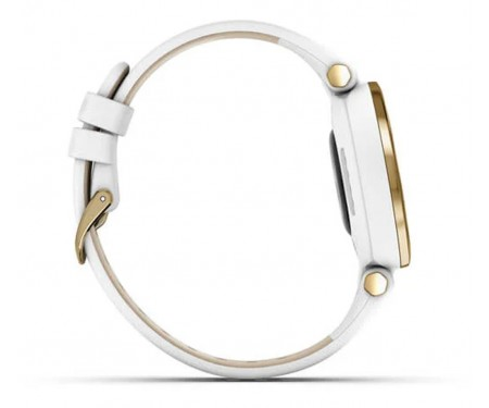 Смарт-часы Garmin Lily Light Gold Bezel with White Case and Italian Leather Band (010-02384-B3)