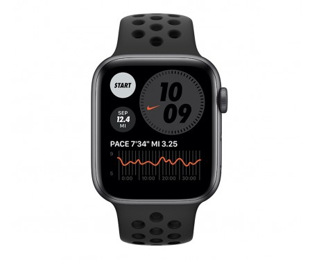 Apple Watch Nike SE GPS 44mm Space Gray Aluminum Case w. Anthracite/Black Nike Sport B. (MYYK2) 2