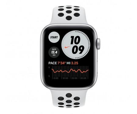 Apple Watch Nike SE GPS + Cellular 44mm Silver Aluminum Case w. Pure Platinum/Black Nike Sport B. (MG043) 2
