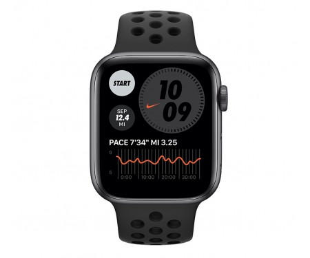 Apple Watch Nike Series 6 GPS 44mm Space Gray Aluminum Case w. Anthracite/Black Nike Sport B. (MG173) 2