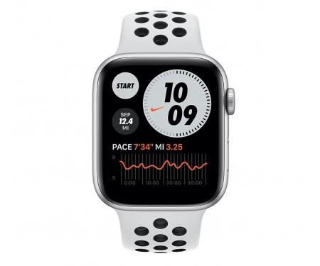 Apple Watch Nike Series 6 GPS + Cellular 40mm Silver Alu Case w. Pure Platinum/Black Sport B. (M06J3/M07C3) 2