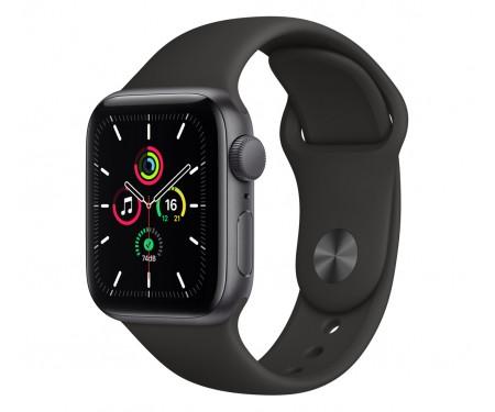 Apple Watch SE GPS 44mm Space Gray Aluminum Case w. Black Sport B. (MYDT2) 1