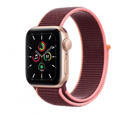 Apple Watch SE GPS + Cellular 40mm Gold Aluminum Case with Plum Sport L. (MYEC2/MYEJ2) 1