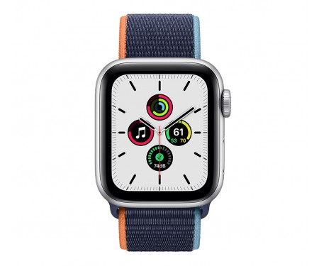 Apple Watch SE GPS + Cellular 40mm Silver Aluminum Case with Deep Navy Sport L. (MYE92,MYEG2) 2