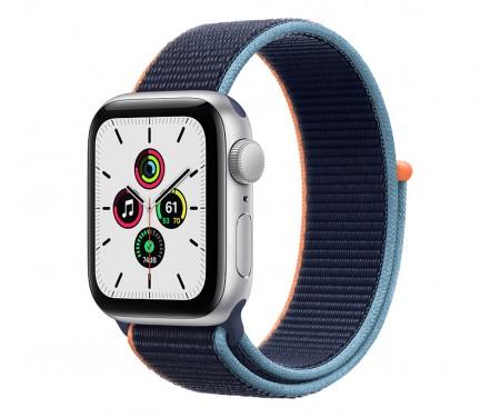 Apple Watch SE GPS + Cellular 40mm Silver Aluminum Case with Deep Navy Sport L. (MYE92,MYEG2) 1