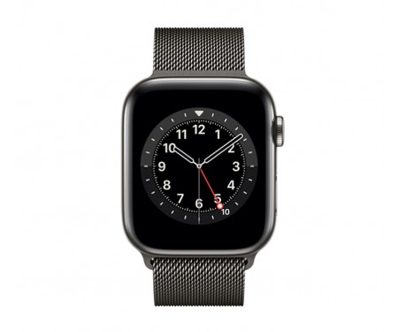 Apple Watch Series 6 GPS + Cellular 44mm Graphite Stainless Steel Case with Graphite Milanese Loop (M07R3/M09J3) 2