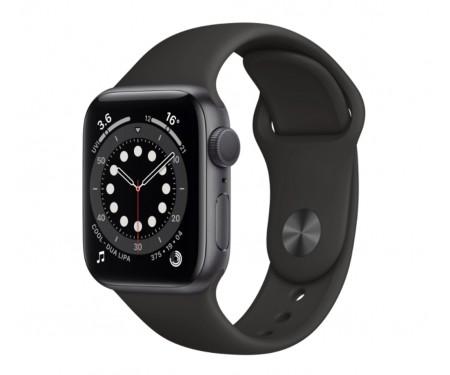 Apple Watch Series 6 GPS + Cellular 44mm Space Gray Aluminum Case w. Black Sport B. (M07H3) 1