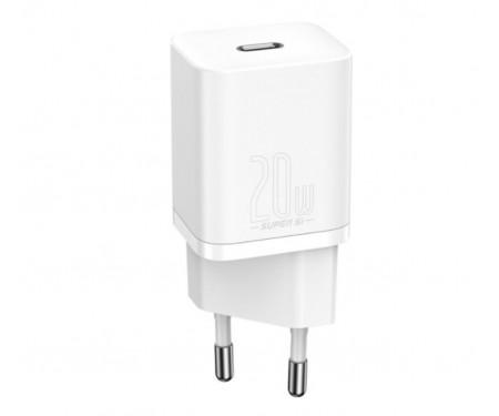Сетевое зарядное устройство Baseus Super Silicone PD Charger 20W (1Type-C) (White) (CCSUP-B02)