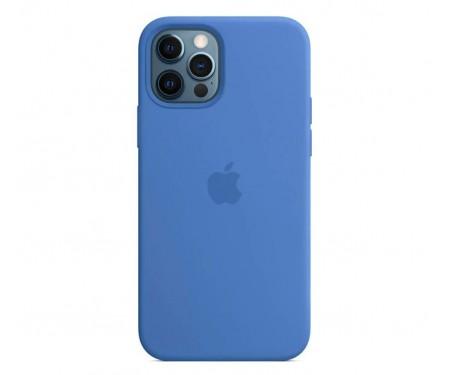 Чехол для Apple iPhone 12/12 Pro Silicone Case with MagSafe Capri Blue Copy
