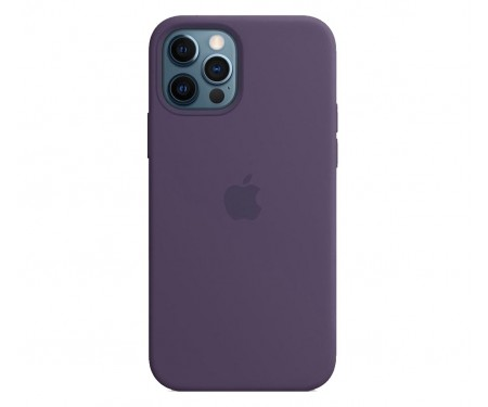 Чехол для Apple iPhone 12 Pro Max Silicone Case with MagSafe Amethyst Copy