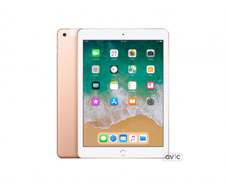 Планшет Apple iPad 2018 Wi-Fi + Cellular 32GB Gold (MRM02) 1