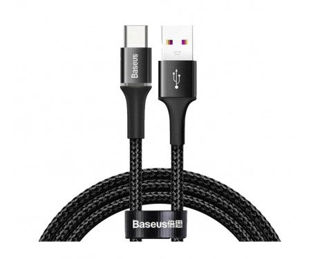 Кабель USB Type-C Baseus halo data HW flash charge cable USB For Type-C 40W 1м Black (CATGH-G01)