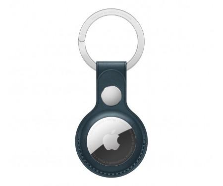 Чехол для поискового брелка Apple AirTag Leather Key Ring Baltic Blue (MHJ23)