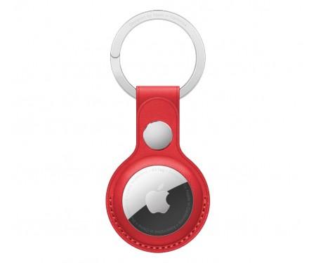 Чехол для поискового брелка Apple AirTag Leather Key Ring Product Red (MK103)