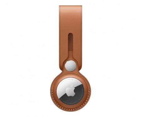 Чехол для поискового брелка Apple AirTag Leather Loop Saddle Brown (MX4A2)