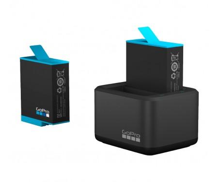 Зарядное устройство для двух аккумуляторных батарей HERO9 Black GoPro Dual Battery Charger + Battery (ADDBD-001-EU)