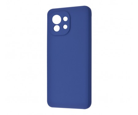 Чехол для Xiaomi Mi 11 WAVE Silicone Cover Blue