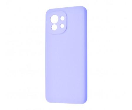 Чехол для Xiaomi Mi 11 WAVE Silicone Cover Light Purple