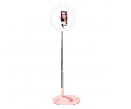 Держатель для телефона с кольцевым освещением 168 см USAMS US-ZB120 Pink
