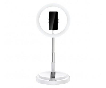 Держатель для телефона с кольцевым освещением 168 см USAMS US-ZB120 White